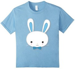 Boys Easter Shirt With Bunny Blue