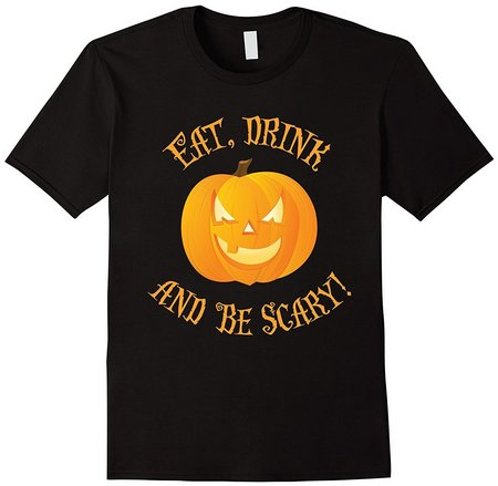 eat drink be scary halloween shirt