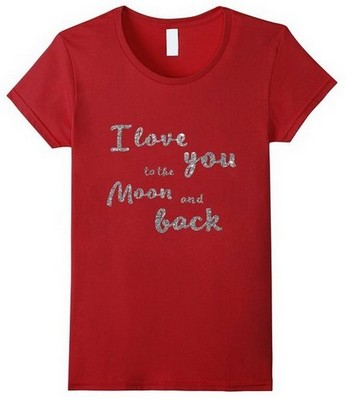 valentines day shirts red i love you to the moon and back