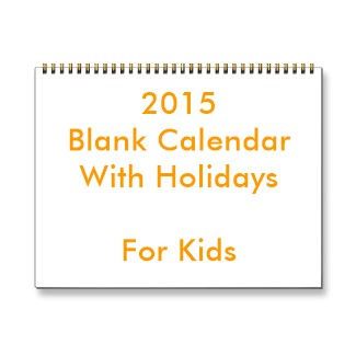 Play with blank calendars for kids