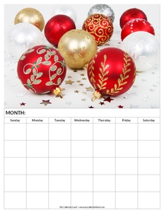 blank-calendar-christmas-decorations