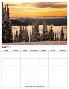 blank-calendar-winter-sunset