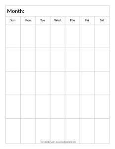 Blank on Printable Template Calendar With Time