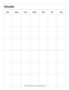6 weeks calendar template