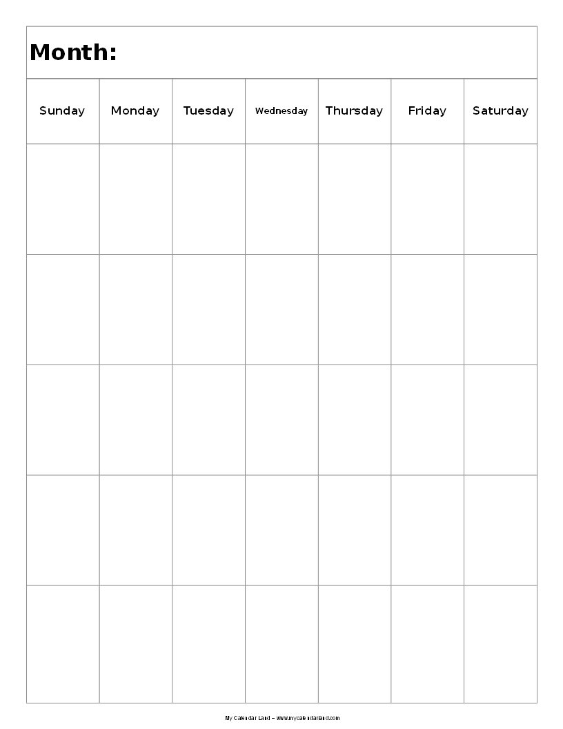 Next two pairs offer blank printable calendars in landscape and ...