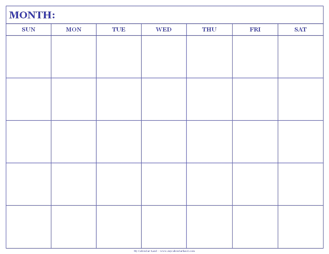 Printable Blank Calendar Image For August 2012
