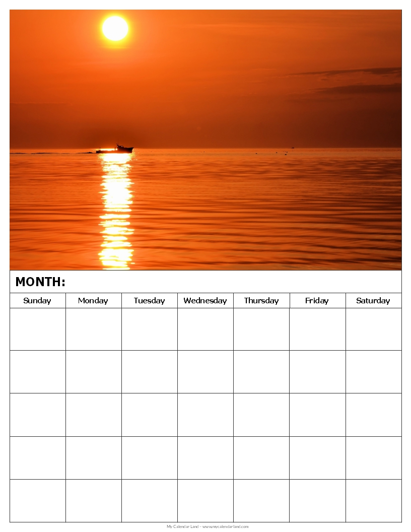 Monthly Calendar Template To Print/page/2 | Calendar Template 2016
