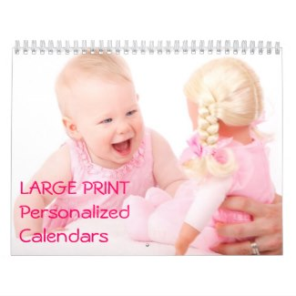 personalized calendars large print