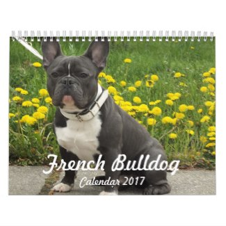 custom french bulldog calendar 2017