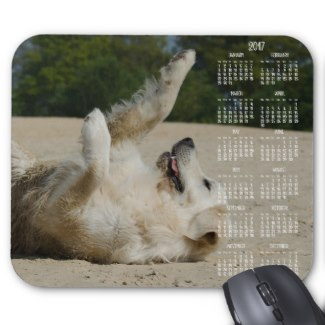cute mouse pad with calendar 2017