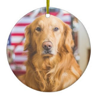 ceramic golden retriever christmas ornaments