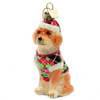 golden retreiver glass ornaments