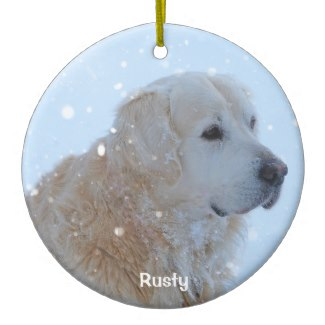 personalized golden retriever christmas ornaments