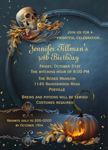 halloween party invites personalized