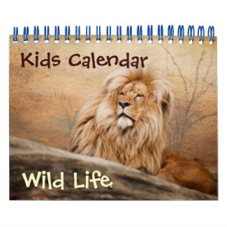 kids calendar with animals small