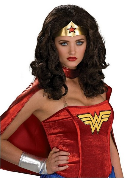wonder woman black wig