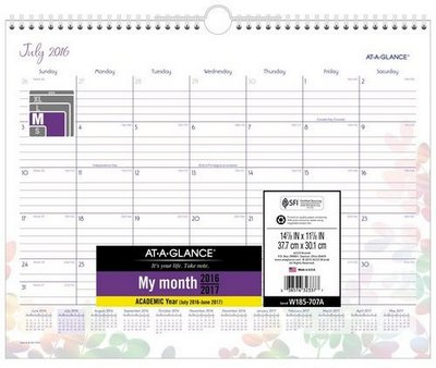 school year calendar at a glance
