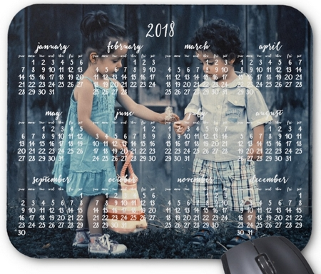 Personalized Mouse Pad Calendar 2018