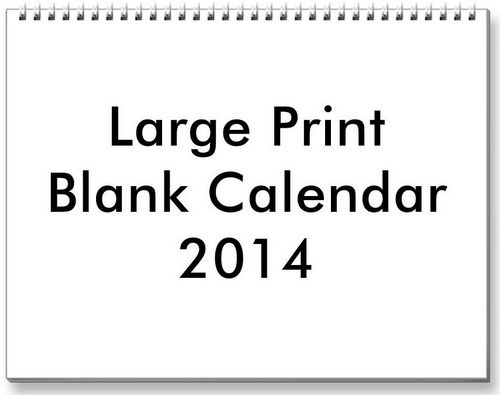 Blank Calendar 2014 Blank car calendar can be a