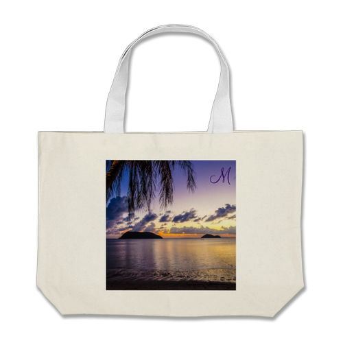 Personalized-Monogrammed-Beach-Bags-Sunset