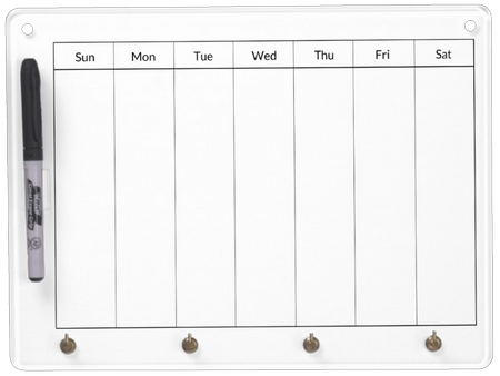 weekly-blank-calendar-on-dry-erase-boards-with-key-chain-holder