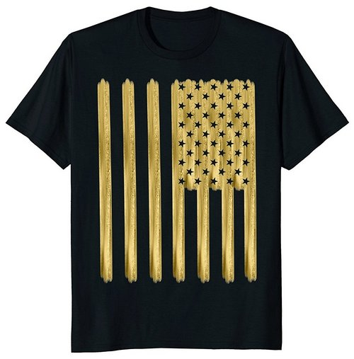 american flag shirt gold imitation vertical