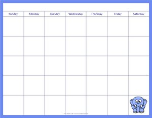 blank-calendar-for-kids-blue-elephant