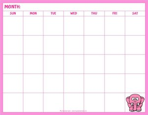 blank-calendar-for-kids-pink-elephant