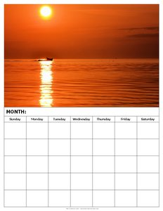 blank-monthly-calendar-sunset