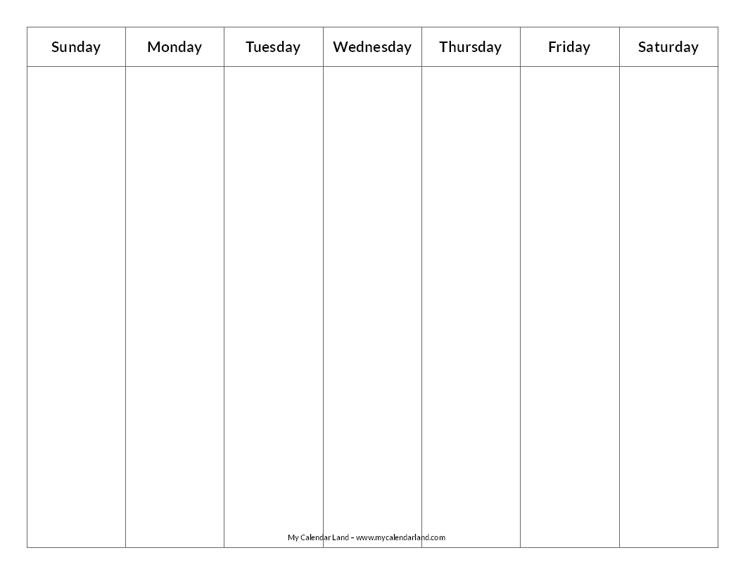 This is an image of Shocking Blank Weekly Planner