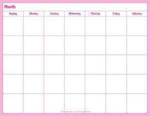 Blank Calendar Printable My Calendar Land