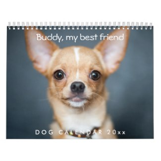 dog calendar personalized add photo