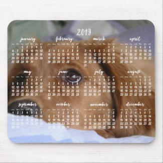 golden retriever calendar 2019 photo mouse pads