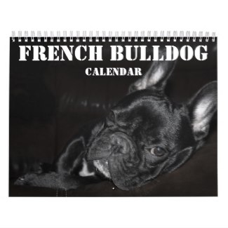 2017 french bulldog calendar
