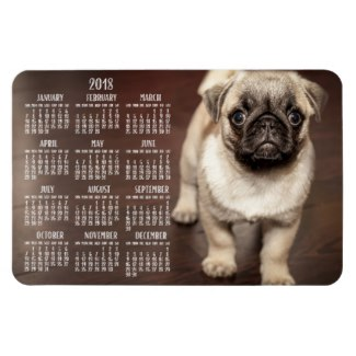 dog calendar 2018 photo large magnet