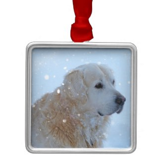 custom christmas ornaments golden retreiver
