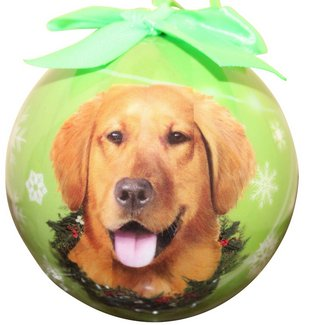 golden retriever christmas tree ball
