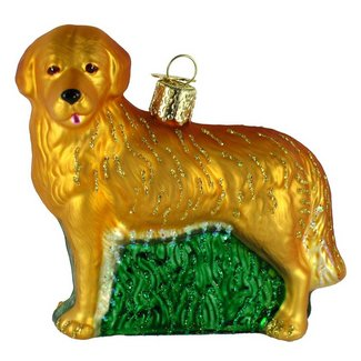 old world golden retriever christmas ornament