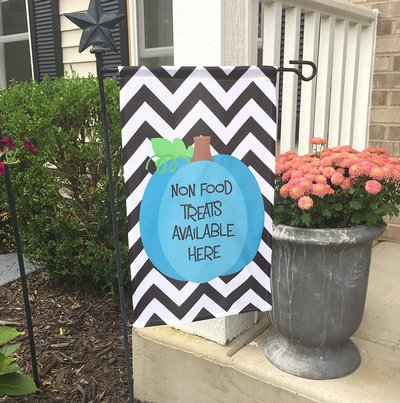 Food Allergy Awareness Garden Flag Teal Pumpkin