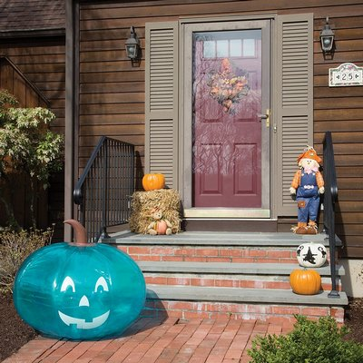 Giant Halloween Teal Pumpkin