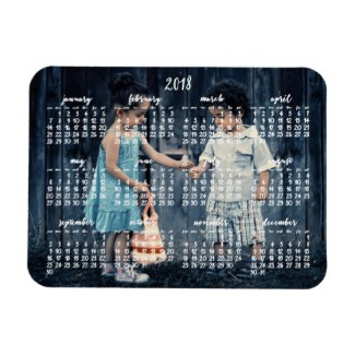 personalized 2018 magnetic calendar