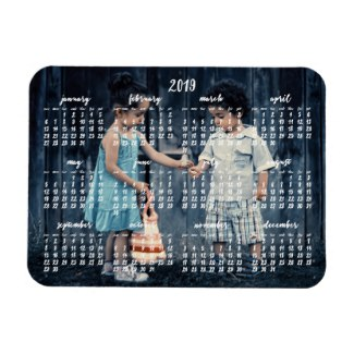 personalized 2019 magnetic calendar
