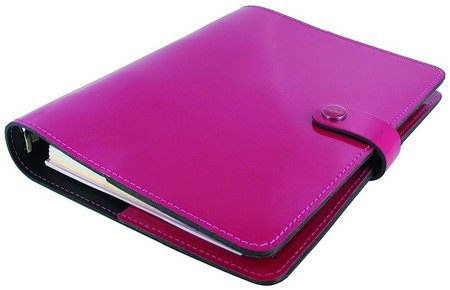 pink leather planner A5