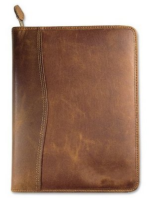 premium leather monthly planner
