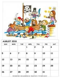 printable calendar for kids 2018 august c