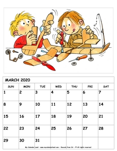 march 2020 calendar for kids c