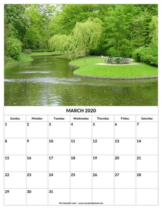 march calendar to print c