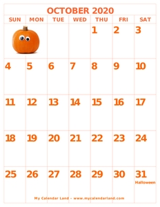 blank october calendar halloween c