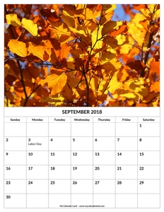 kids calendar 2018 september printable c