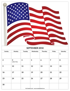 september 2018 calendar for kids c